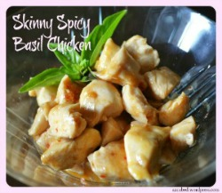 Skinny Spicy Basil Chicken