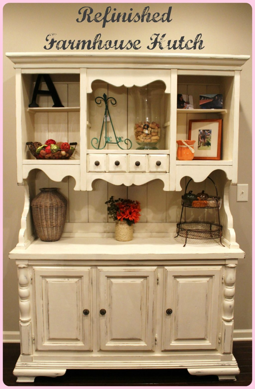 Refinished Farmhouse Hutch Tutorial