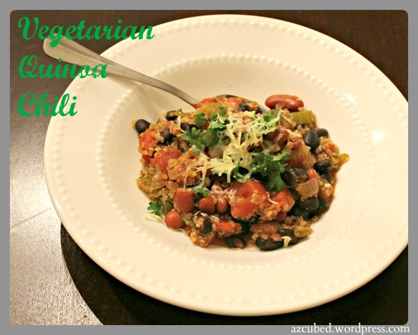 Quinoa Vegetarian Chili & the Case of the Missing Crock Pot