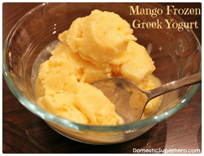 Mango Frozen Yogurt - Domestic Superhero