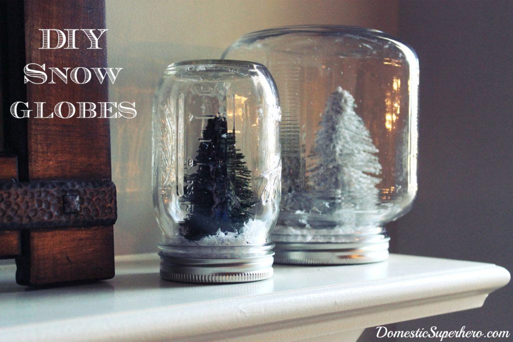 Diy snow globes for Easy homemade christmas snow globes