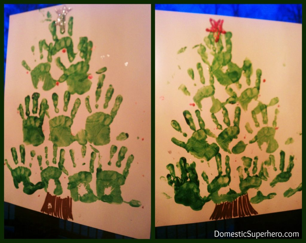Kid's Activity: Handprint Christmas Trees