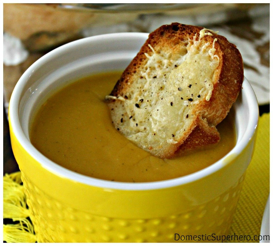 Winter Squash Soup with Gruyere Croutons