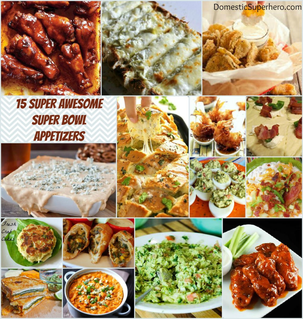 Over 15 Super Awesome Super Bowl Appetizers are all put together for you! Delicious dips, munchies, and snacks!