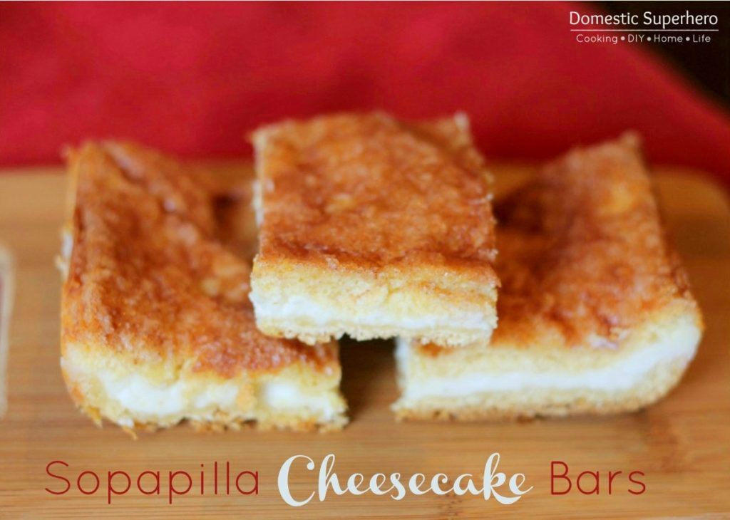 Sopapilla Cheesecake Bars - sweet and slightly crunchy - these are the perfect dessert!