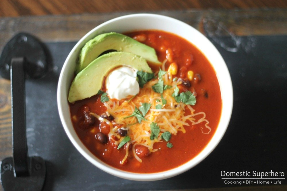Skinny Enchilada Soup is a simple recipe with tons of Mexican flavor and minimal calories!