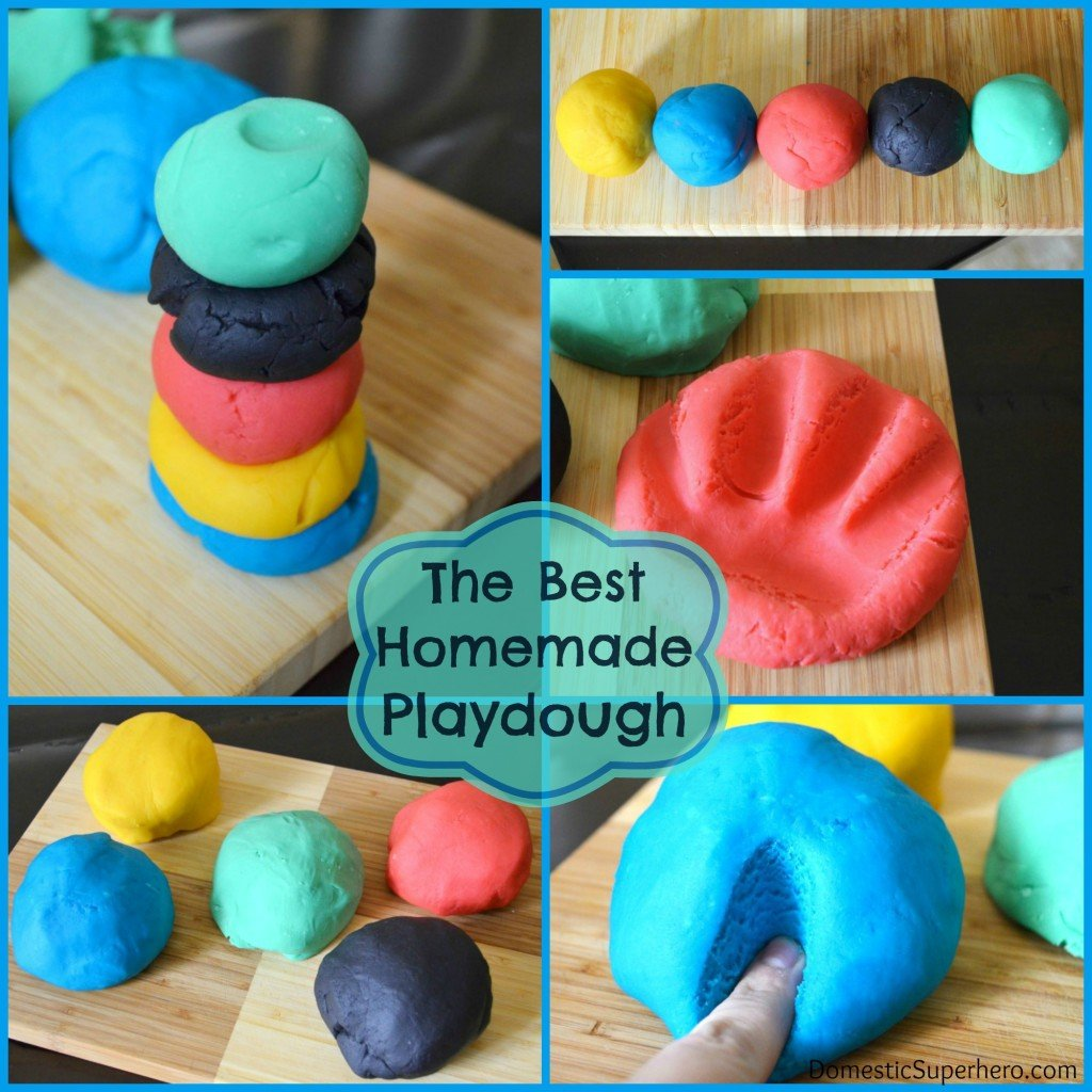 The Best Homemade Playdough Recipe Domestic Superhero