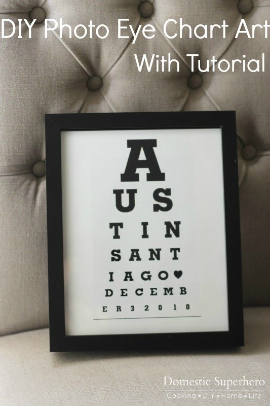 DIY Eye Chart Art with Tutorial