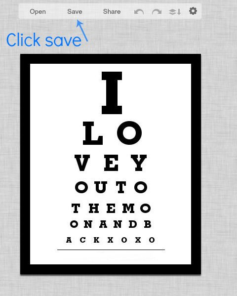 DIY Photo Eye Chart Art with Tutorial
