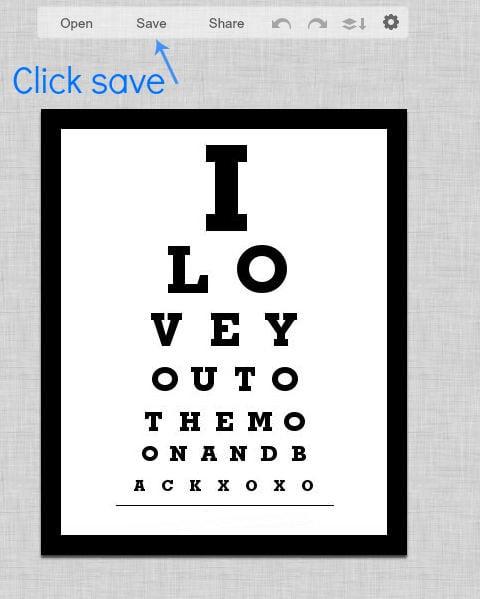 DIY Photo Eye Chart Art with Tutorial