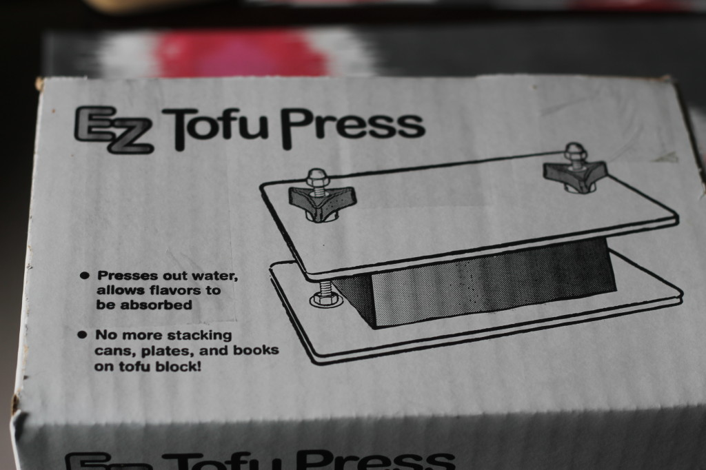 EZ Tofu Press?! Where have you been all my life? So much better than draining with paper towels!