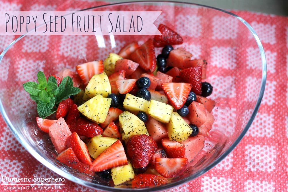 Poppy Seed Fruit Salad with Citrus Honey Glaze