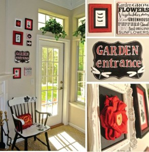 Garden Entrance Art and Distressed Frame Tutorial