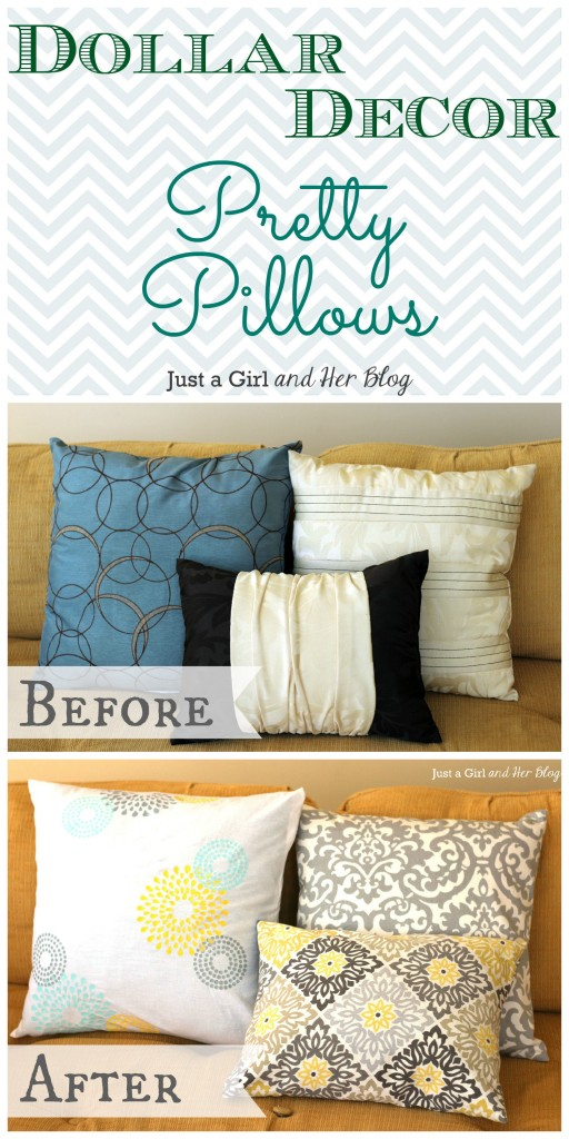 Dollar Decor: Pretty Pillows  DIY pillows