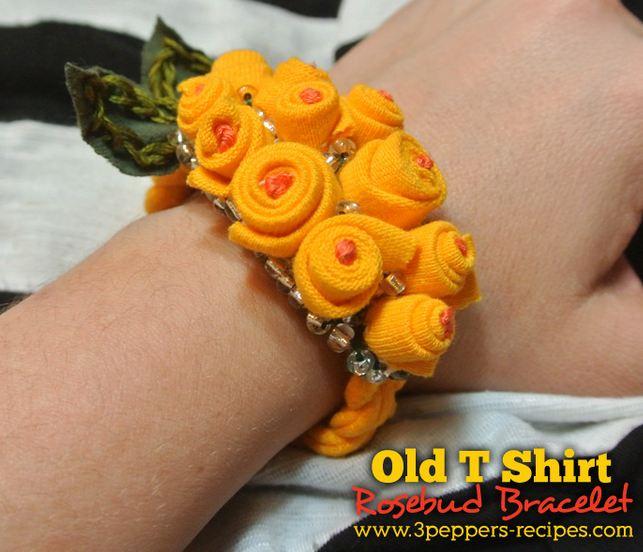 Old T Shirt Rosebud Bracelet