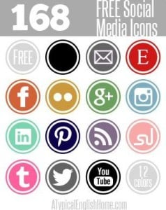 Social Media Icons: Additional Buttons