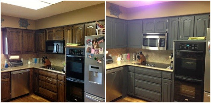Using Chalk Paint to Refinish Kitchen Cabinets