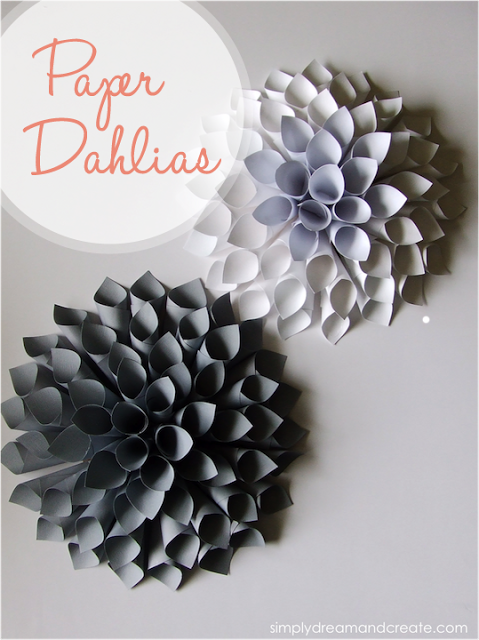 DIY Paper Dahlias