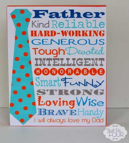 Subway Art Fathers Day Printable