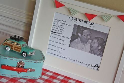 Free About Dad Printable Survery