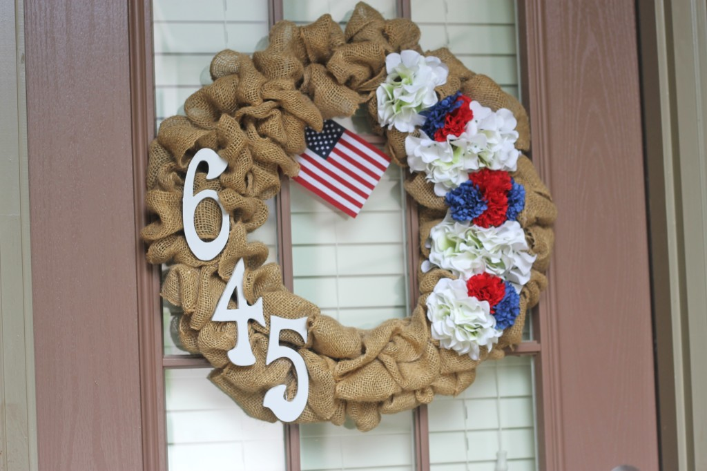 DIY 4th of July Burlap Wreath