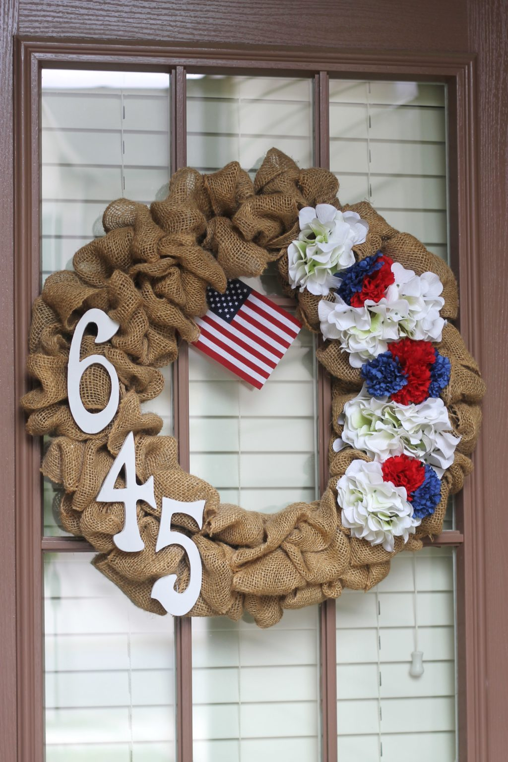 Diy 4th Of July Burlap Wreath Domestic Superhero