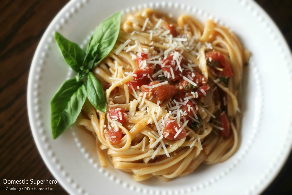 One Pot Wonder Tomato Basil Pasta