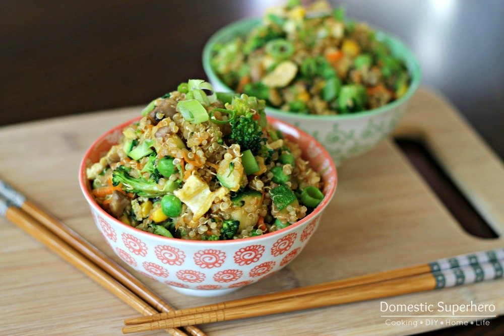 Quinoa 'Fried Rice' is the perfect recipe for eating healthy, but not...