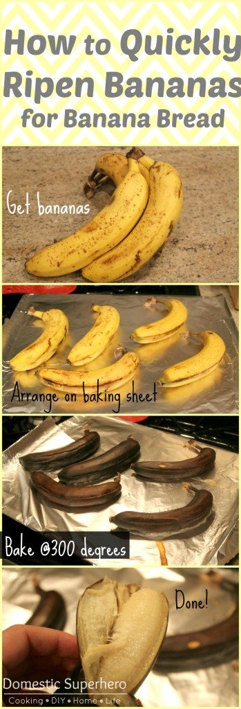 How To Quickly Ripen Bananas For Banana Bread  Domestic -1624