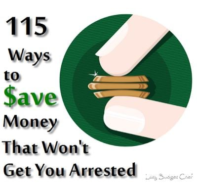 115 Ways to Save money
