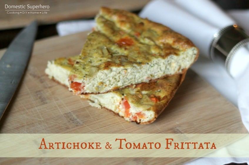 Artichoke and Tomato Frittata