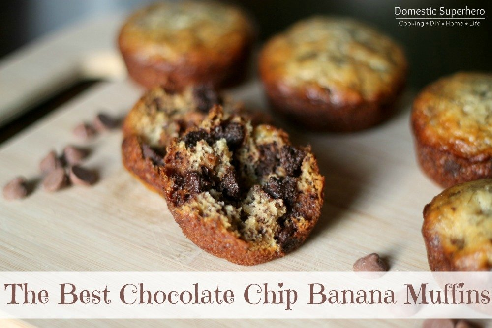 The Best Chocolate Chip Banana Muffins