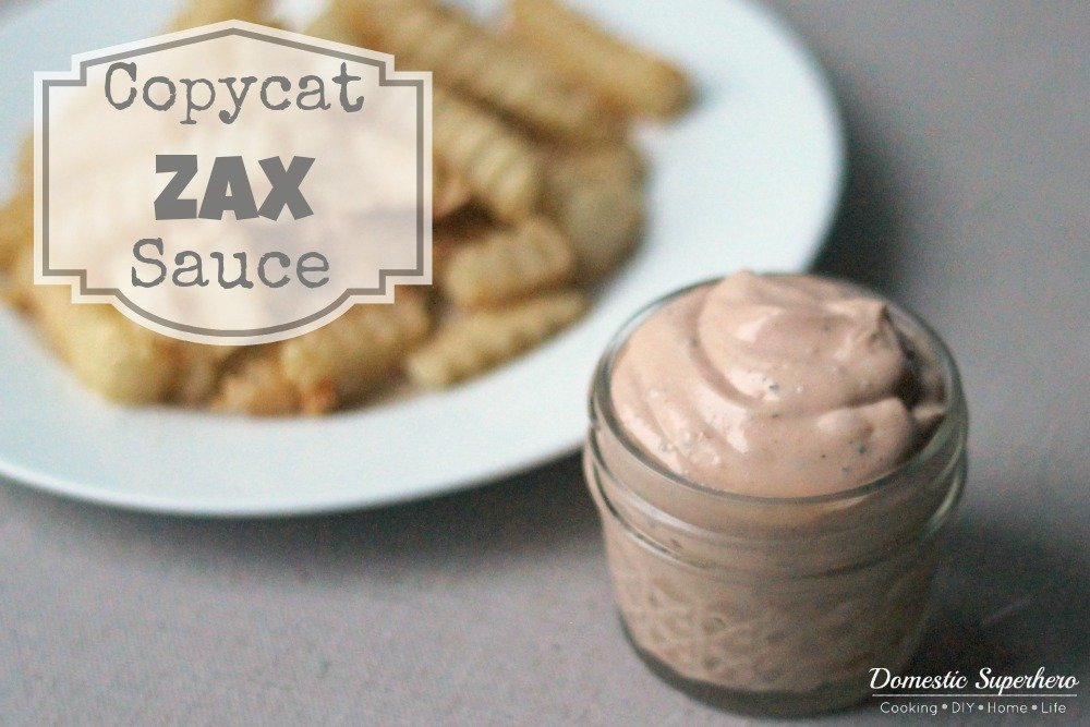 This signature Zaxby's Sauce is perfect dip for chicken or french fries . With only a handful of ingredients, it's super easy to make and majorly addicting!