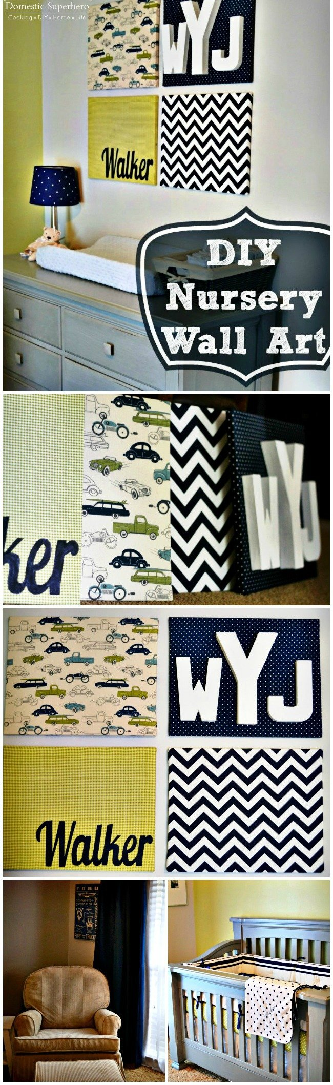 DIY Nursery Wall Art and a Nursery Tour - this is the easiest and most saught after wall art! Perfect for a gift or your own room!