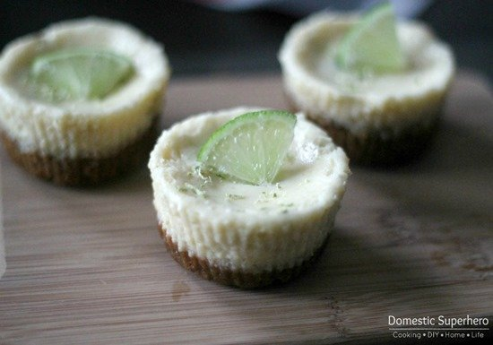 Skinny Mini Key Lime Pies