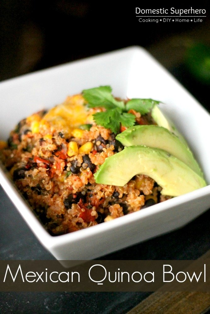One Pot Mexican Quinoa Bowls are healthy, delicious, and come together super fast - perfect healthy dinner!
