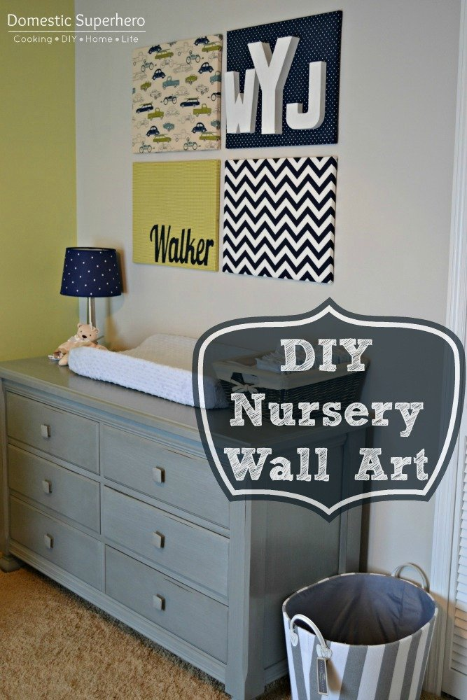 Diy Wall Decor Ideas Nursery : Diy nursery wall art and a tour domestic superhero