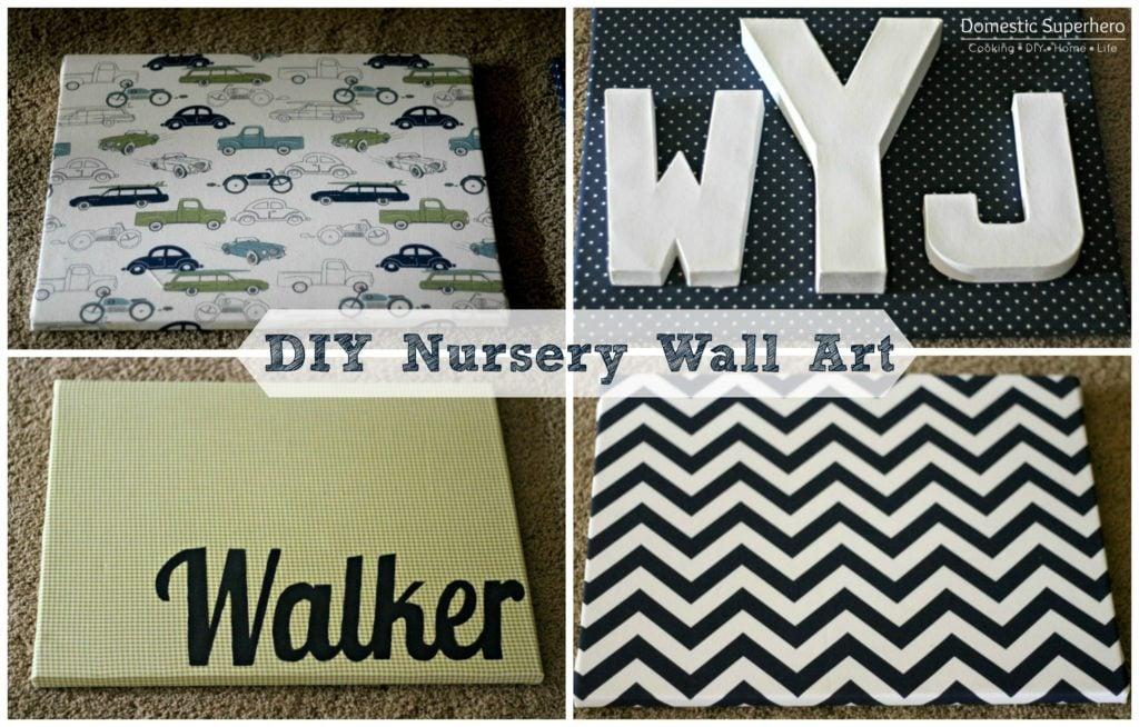 DIY Nursery Wall Art and a Nursery Tour Domestic Superhero