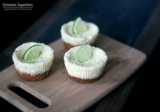 Skinny Mini Key Lime Pies are the perfect individual dessert! Quick and easy to make, with a ton of flavor!