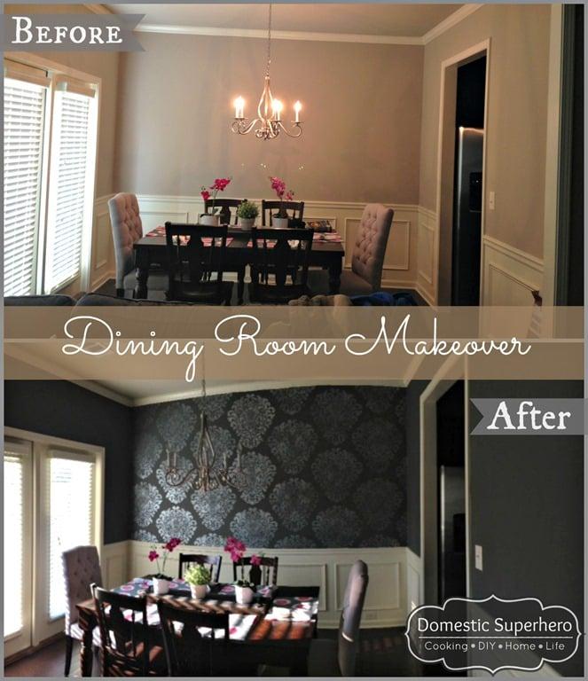 Dining Room Makeover - Domestic Superhero