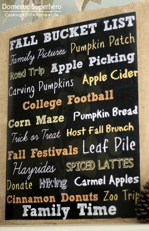 Fall Bucket List with #FREE printable!