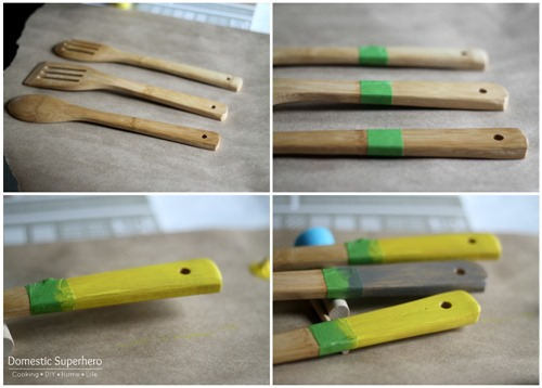 The Perfect Hostess Gift: Custom Designed Kitchen Towel and Custom Spatulas! So cute!