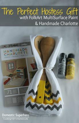 The Perfect Hostess Gift: Custom Designed Kitchen Towel and Custom Spatulas! So cute!