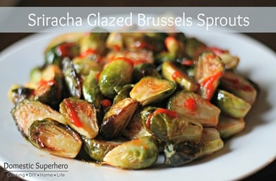 Sriracha Glazed Brussels Sprouts 4