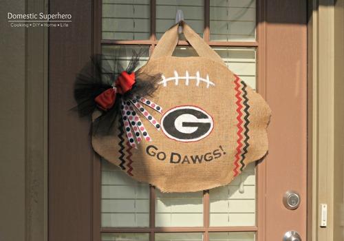 DIY College Football Door Hanger