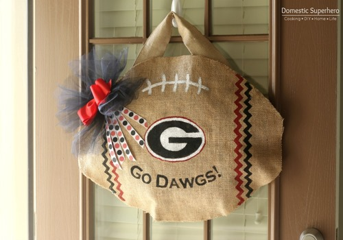 DIY College Football Door Hanger
