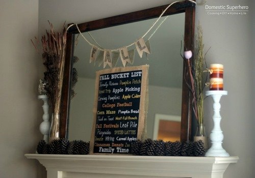 Super Easy and Cheap Fall Mantle