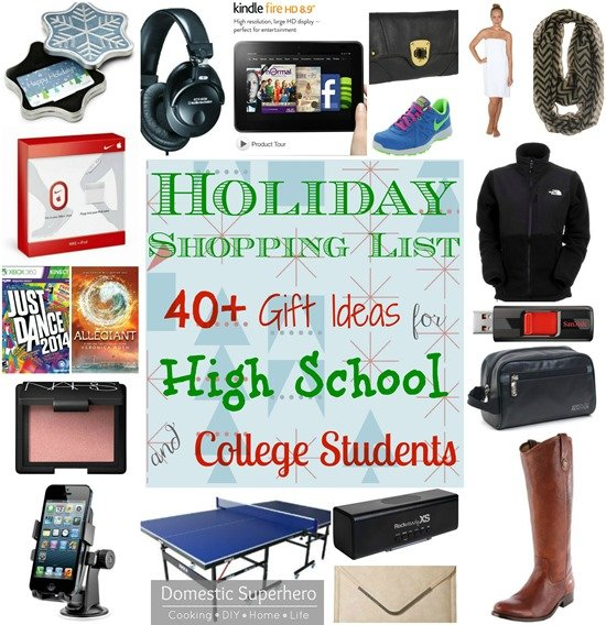 Holiday Shopping List - 40+ Gift Ideas for High School and College Students