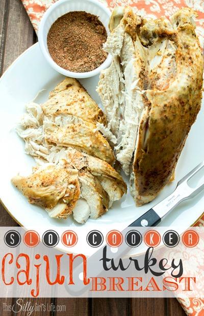 Slow Cooker Cajun Turkey breast