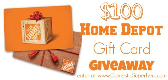 $100 Home Depot Giveaway